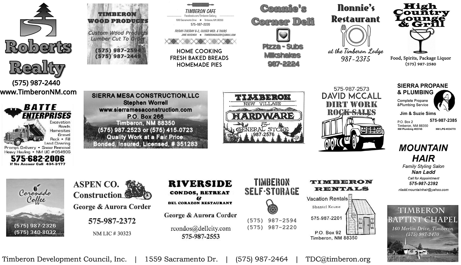 Timberon Business Directory \u2013 Timberon Development Council, Inc.